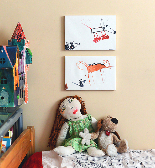 Home is Where You Hang Canvas Prints: 8 Ideas | Your child's drawings | blog.zoombook.com