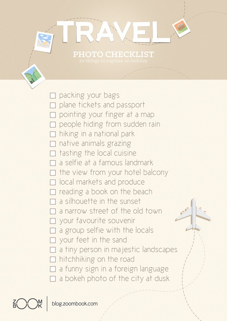 Travel Photography Checklist for Photo Ideas on the Road | blog.zoombook.com