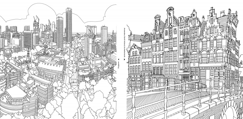 Steve McDonald's Worlds of Fantastic Cars and Cities to Colour | blog.zoombook.com