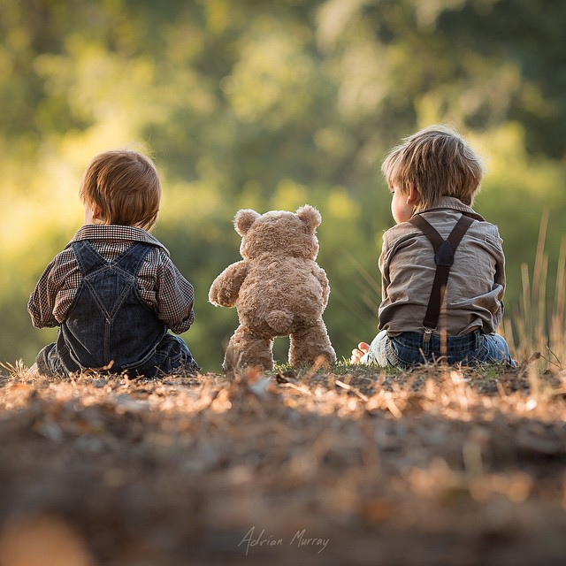 Adrian Murray's Heartfelt Photos of Two Boys and Their Teddy